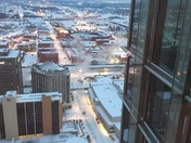 From Devon Tower looking at I-35/I-40 interchange