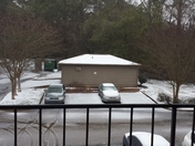 Snow and ice at Woodridge Apartments