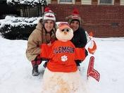 Snowing orange