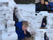 Snow fun! Perfect igloo