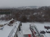 Drone video of local fire companies training at East Cocalico motel that is soon
