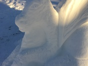 Snow Dragon in our yard