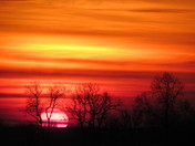 Sunrise this morning in Mahaska County.
