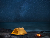 Starry Night Over Campsite