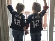 Twin touchdown!