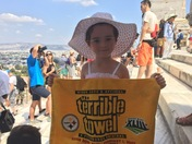 Terrible Towel at the Acropolis in Athens!