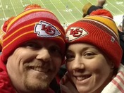 Keeping warm at the KC Chiefs game