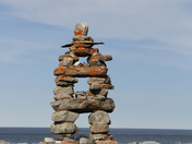 Inuksuk (Inukshuk) near Arviat, Nunavut