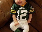 Lainey loving the Packers!