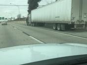 Semi Truck Fire