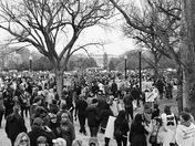 Washington DC Women's March advocating women's rights.