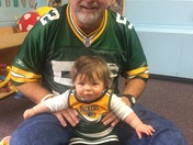 Grandpa with his favorite future Green Bay Packer cheerleader