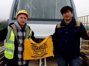 Cheering for the Steelers in China!