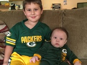 Greatest packer fans Aj and Ryan
