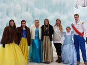 Princesses at NH Ice Castles in Lincoln