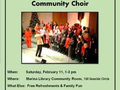 Monterey Peninsula Gospel Community Choir performs at Marina LIbrary Sat Feb 11