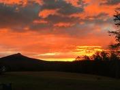 Pilot Mountain silhouette sunrise