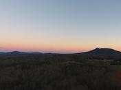 Sunset of Pilot Mtn. and sauratown