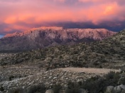 Sandia Mountains at sunset