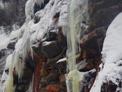 Ice flows and falls