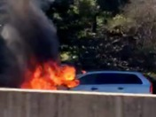 VEHICLE FIRE ON HIGHWAY 1 SOUTH