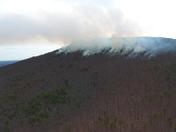 Fire on Pilot Mountain