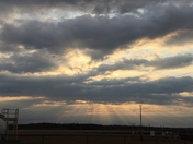 Sunshine through the clouds on Groundhog Day