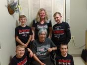 Three generations of Patriots fans.