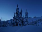 Snow blanket at dawn