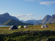Camping in Pangnirtung Fjord