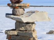 Inuksuks or Inuksuk near Igloolik, Nunavut