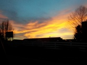 Sunset in Hillview KY.