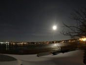 Time-lapse of the rising snow moon