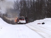 Car Fire Farmington, me