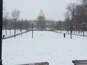 Snow picture from Boston Common