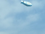 Blimp fly over