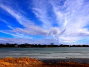 clouds over lake manawa this afternoon