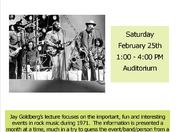 The Year in Rock Music 1971 – lecture and live concert