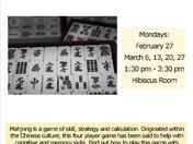Learn to Play Mahjong