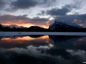 Banff Vermilion Lakes in sunrise