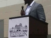 Marcus Lattimore,  a Class Act, speaks at Chamber banquet