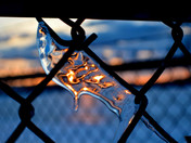 Back lit ice