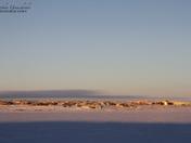 Early morning winter sunrise over Cambridge Bay, Nunavut