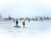 Recess ice hockey
