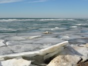 Icy waters at Point Pelee