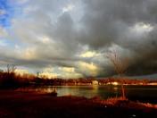 clouds over lake manawa tonight