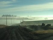 Mid-February in rural Iowa