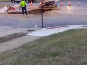 water main break E. northern pkwy at fairdell ave.