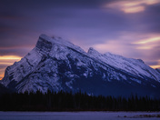 Mount Rundle on a cold winter morning
