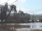 Flood on San Felipe Rd in hollister